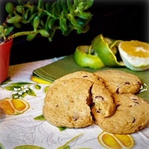 Cookie laranja com chocolate